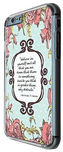 273 - Shabby Chic Floral Christian Quote Believe in your self and all that you are Design iphone 6 PLUS / iphone 6 PLUS S 5.5'' Coque Fashion Trend Case Coque Protection Cover plastique et métal