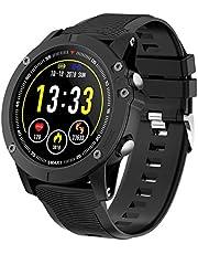 HolyHigh Reloj Inteligente Bluetooth Impermeable IP68 Pulsera de Actividad 1.3 Pulgadas Pantalla con Monitor de Ritmo Cardíaco/Sueño, Podómetro, Notificación de Llamada para iOS Android