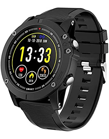 94f9b855a HolyHigh Bluetooth Smart Watch Waterproof IP68 Fitness Tracker 1.3 Inch TFT  Display Activity Tracker with Heart