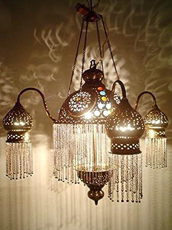 Amazon br264 4 shades moroccan jeweled pendant light lamp br264 4 shades moroccan jeweled pendant light lamp chandelier aloadofball Images
