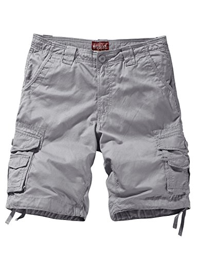 Match Men's Comfort Cargo Shorts (Label Size XL/34 (US 32), 3058 Silver Gray)