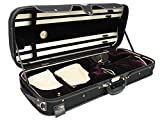 D'Luca CP04M-BKBU Double Violin Case Black-Burgundy