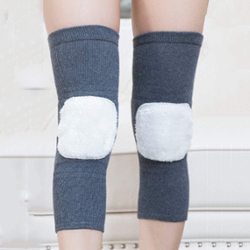 QJKai Cashmere Thickening and Long Knee Protection Joints to Keep Warm Cold Leggings