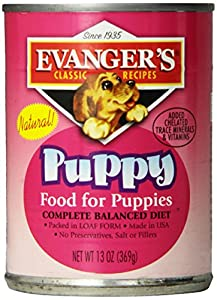EVANGER'S 776480 12-Pack Natural Classic Puppy Dinner, 13-Ounce
