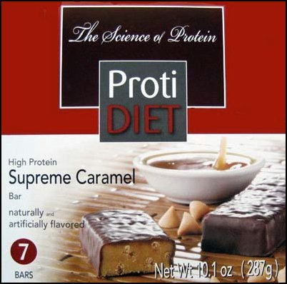 Protidiet Supreme Caramel (With Chocolate) High Protein Bars (Box of 7) by Protidiet