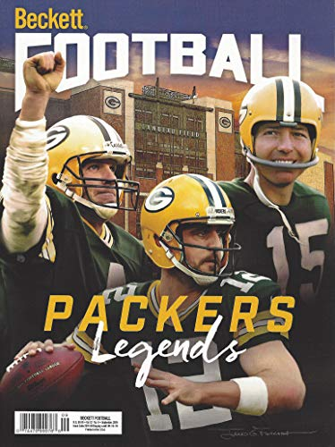 Beckett Football Cover (NEWEST GUIDE: Beckett Football Card Monthly Price Guide (July 16, 2019 / Packers QBs cover))