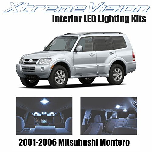 XtremeVision Interior LED for Mitsubishi Montero 2001-2006 (10 Pieces) Cool White Interior LED Kit + Installation Tool (Mitsubishi Montero Parts)