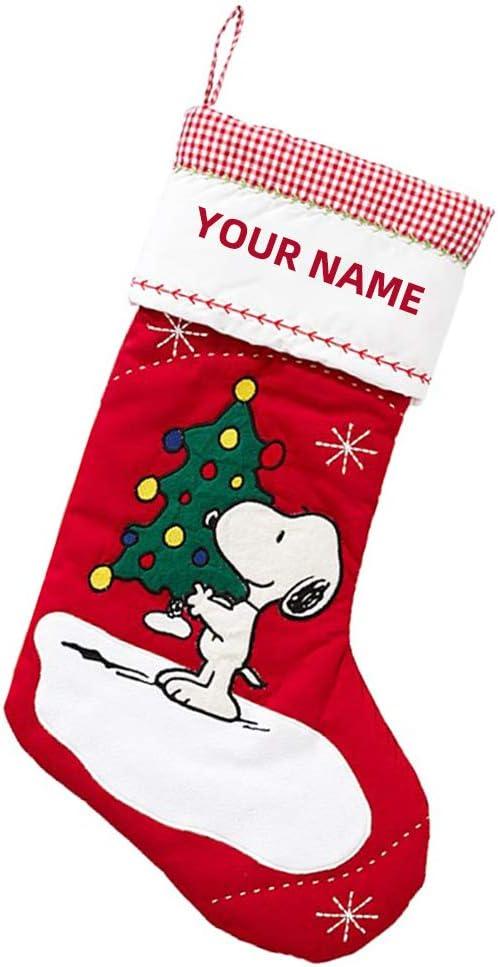 GDCB Calcetín de Navidad Personalizado 18 Pulgadas Muñeco de Nieve de Santa Reno Medias de Navidad Decoraciones Artículos de Fiesta Regalos para niños Familiares