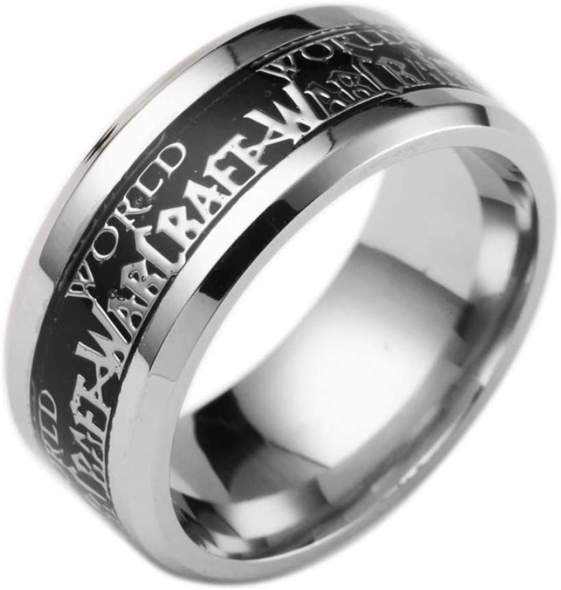 YUKFGH Ring Gift Gift Stainless Steel Mens Rings Wow Fight Game for Horse Ring Jewelry Bague Rings World of Warcraft for Women