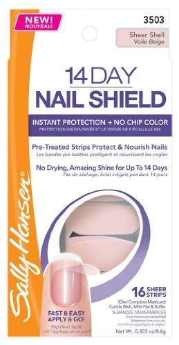 (Pack 2) Sally Hansen 14 Day Nail Shield, Sheer Shell, 0.329 Ounce