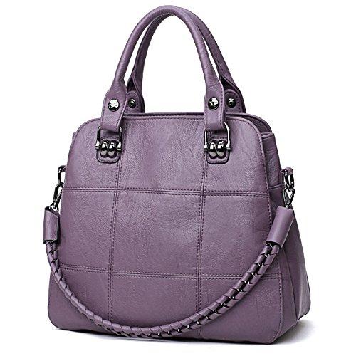 Capacité Bandoulière Loisirs Sac Main Mode Femmes Grande À Maman De Messenger Bag Purple Chaîne qatn0x7