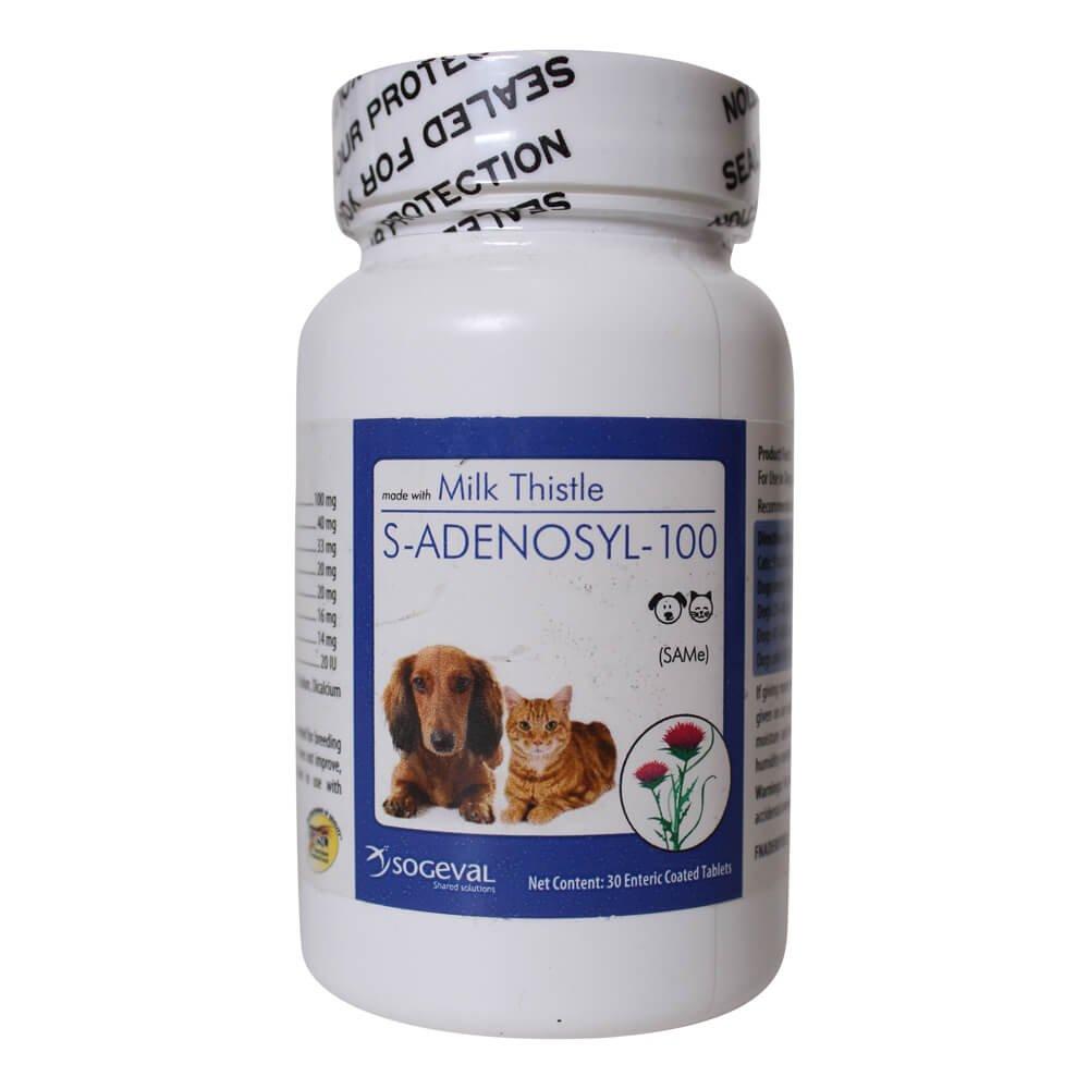 CEVA Animal Health FNADE001030 SAMeLQ 30 Count CHEWABLE TABLETS 100 Pet Antioxidant Nutritional Supplements