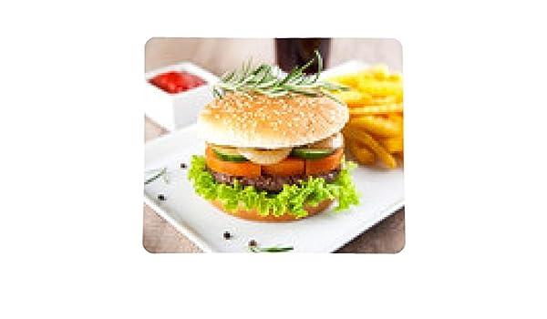 alfombrilla de ratón Hamburguesa con papas fritas y salsa de tomate: Amazon.es: Electrónica