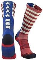 TCK Sports Old Glory USA American Flag Crew Socks Basketball Football Softball Lacrosse