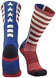 TCK Sports Old Glory USA Flag Crew Socks, Medium