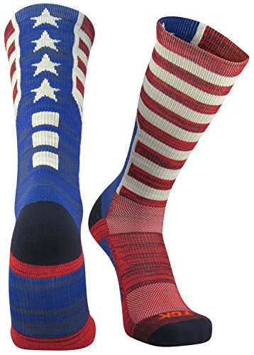 Old Glory American Flag - TCK Sports Old Glory USA Flag Crew Socks, X-Large