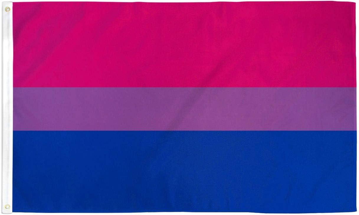 Massive 5/' x 3/' Bisexual Pride Flag LGBT Equality bi grommets