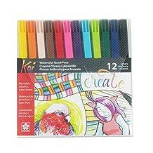 Koi Sakura XBR-12SA Assorted Coloring Brush Pen Set, Multicolored, 12-Piece