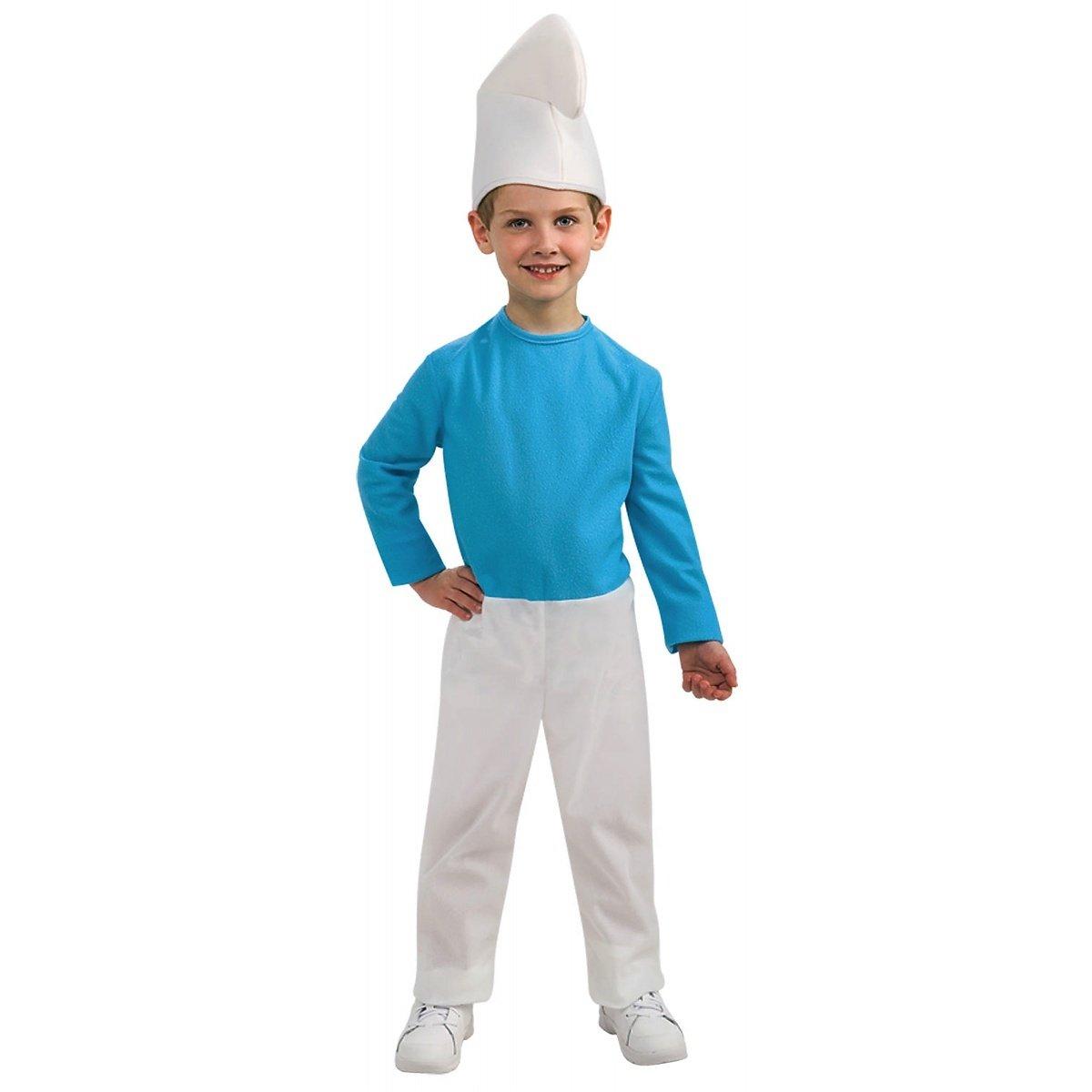 Amazon.com: Disfraz de pitufo niño Tamaño Grande: Clothing