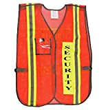 Orange Security Safety Vest with 2' Yellow / Silver Reflective