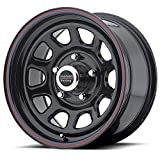 American Racing Custom Wheels AR767 Gloss Black Wheel With Red And Blue Strip (16x8''/5x139.7mm, +12mm offset)