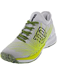 Wilson Men`s KAOS 2.0 SFT Tennis Shoes White and Safety Yellow-(WRS323780-S18)