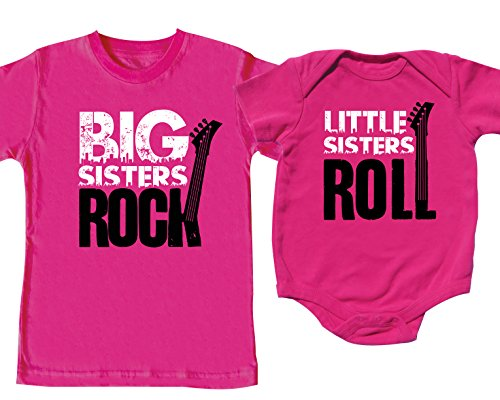 - Sibling Shirt Set with Little Sisters Roll, Includes Small (6-8) & 6-12 mo