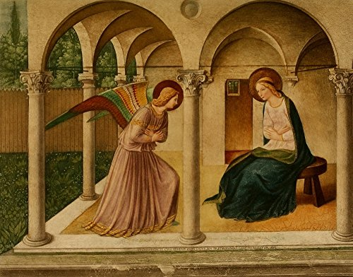 Posterazzi The The Renaissance The Annunciation Poster Print by Fra Angelico, ((8 x 10)