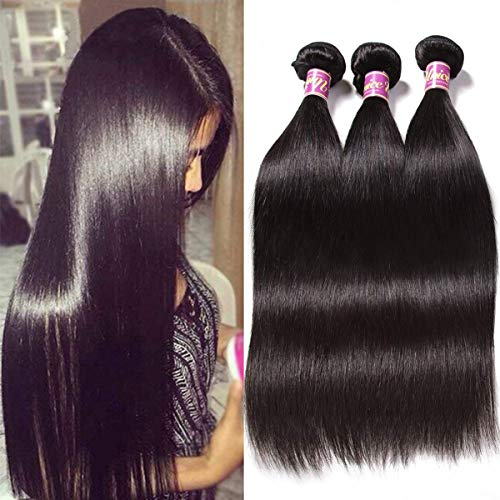 Unice Hair 16 14 12inch 8a Malaysian Straight Hair 3 Bundles Virgin Unprocessed Human Hair Wefts Hair Deal with Mixed Lengths 100% Human Hair Extensions