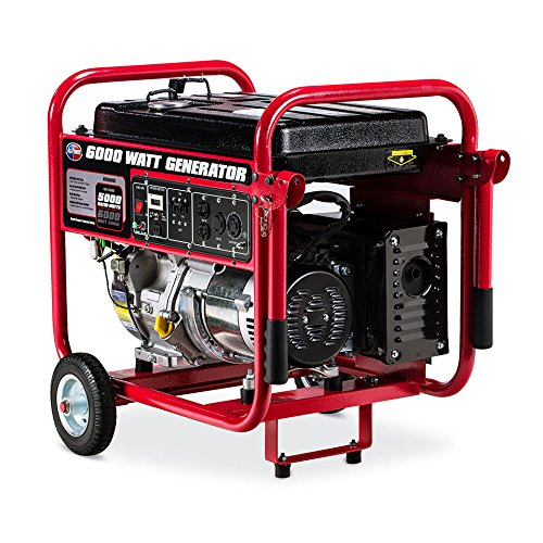 amazon com : all power america apgg6000, 6000 watt generator, 6000w gas  portable generator, epa certified : garden & outdoor