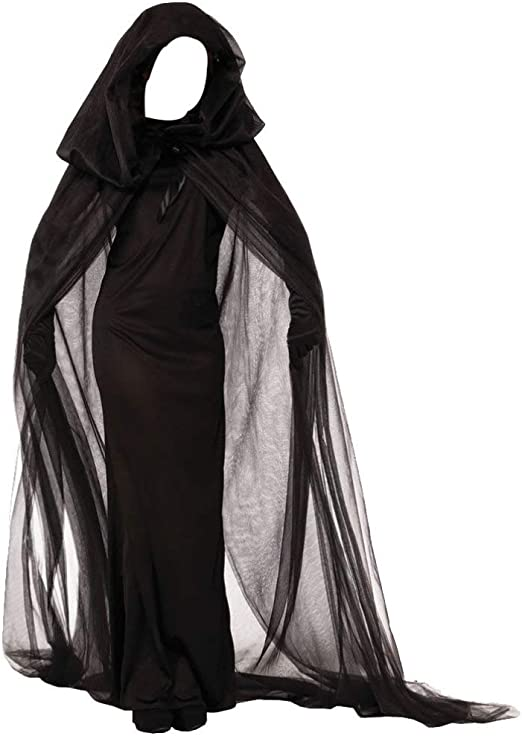 Amosfun Disfraz de hechicera para Mujer Capa con Capucha Capa ...