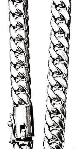 MPyramid Chaîne maille en argent sterling 925, env. 10mm de largeur, env. 51cm de long