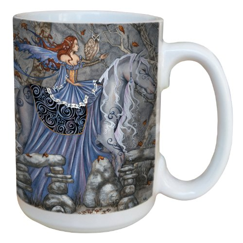 (Tree-Free Greetings lm43601 Fantasy Enchanted Journey Rhiannon Fairy Ceramic Mug with Full Sized Handle by Amy Brown, 15-Ounce )