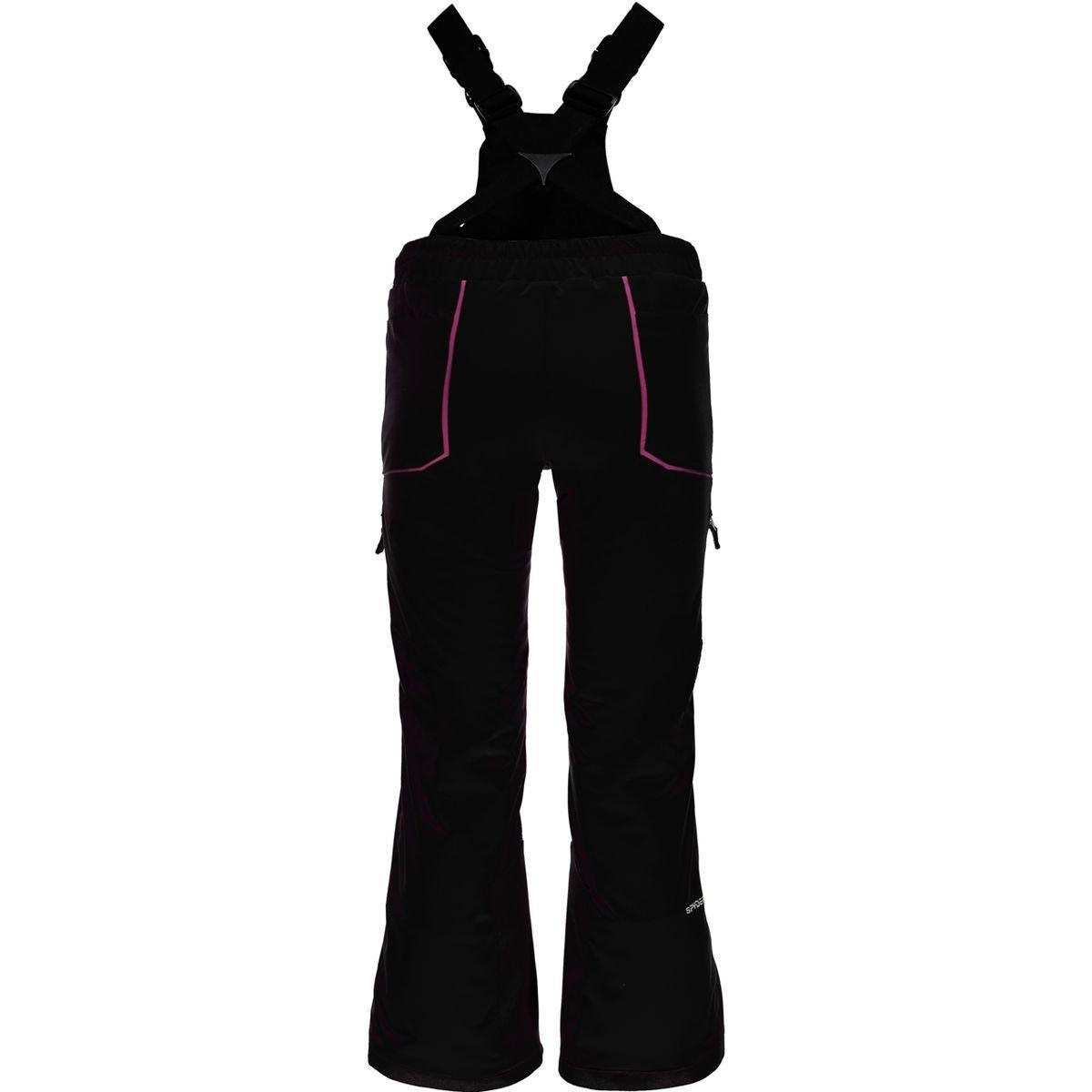 Spyder Kids Girl's Mimi Overall Pants (Big Kids) Black/Raspberry 14 by Spyder (Image #1)
