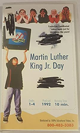Amazon Com Holiday Facts Fun Martin Luther King Jr Day Vhs