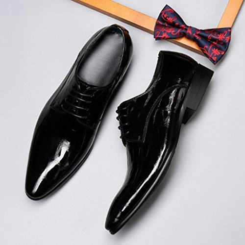 ... Schuhe Flut Stil Herrenschuhe Britischen Schwarz EU39 Casual Schuhe  Herren Helle Farbe Formelle Business Schuhe Größe ... 7f1f14361c