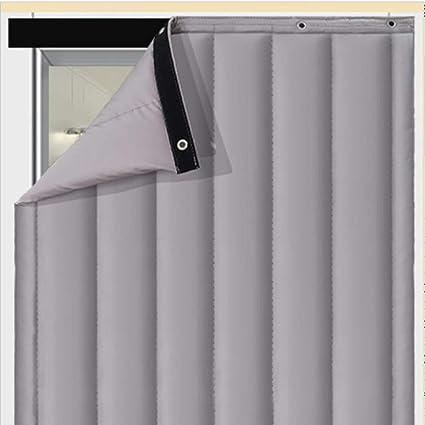 thermique isolation phonique rideau de porte epaissir pu panneaux de rideau de porte impermeable rideau de partition de climatiseur chambre a coucher