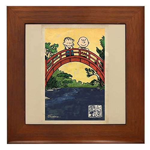 CafePress - Serenity Stream - Framed Tile, Decorative Tile Wall Hanging