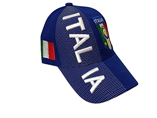 Italia Italy Baseball Caps Hats with 3 3D Embroideries