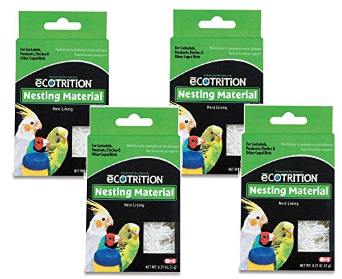 8 in 1 Pet Products Natural Cotton Fiber Bird Nesting Material - 4 Total .25oz each