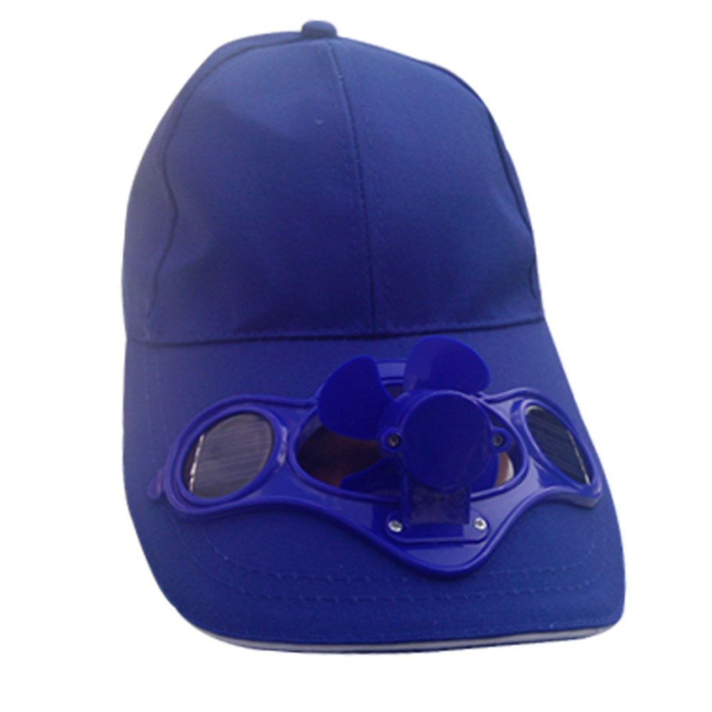 Innovative Products Baseball Hat / Cap With Solar Powered Cooling Fan - Dark Blue (55~58cm)