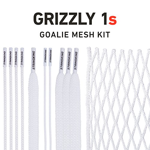 String King Grizzly 1s Semi-Soft Goalie Lacrosse Mesh Kit with Mesh & Strings