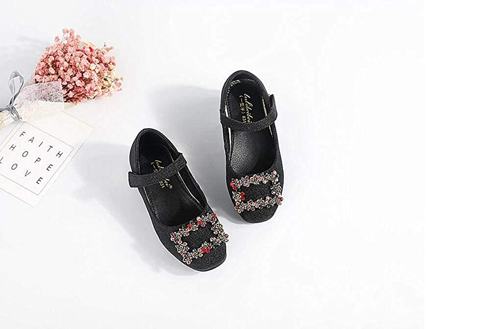 Girls Dress Shoes Cute Mary Jane Shoes Casual Shoes Walking Shoes Black 26//9.5M US Toddler