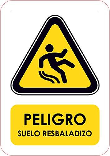 Señal PVC Peligro Suelo resbaladizo Tamaño A5 (21x14,8cm ...