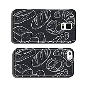 set of different breads on blackboard, vector cell phone cover case iPhone5
