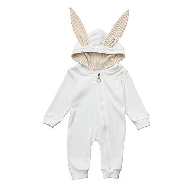 Koly Pelele de Bebés Niños Niñas del Otoño e Invierno Ropa Unisex Recién nacido Infantil Conejo