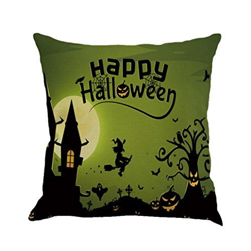 Vintage Halloween Decorations For Sale (Hot Sale !Halloween Pillow Cover ,Beautyvan Comfortable Happy Halloween Pillow Cases Linen Sofa Cushion Cover Home Decor ,Multiple Colors Available (1~H))
