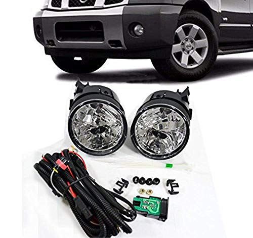 Remarkable Power Fog Lights Bumper Lamps Kit OE Clear Fit For 2004 2005 2006 2007 Nissan Armada Titan ()