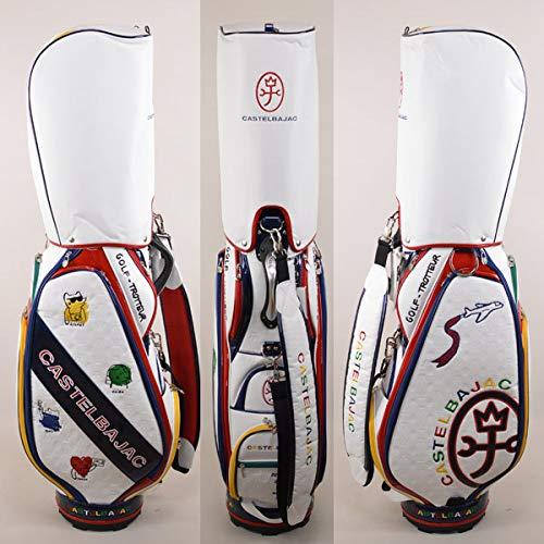 カステルバジャック メンズ キャディバッグ ゴルフバッグ 9インチ 9型 ゴルフ CASTELBAJAC 23803-302 B07S597TN1 01(白)