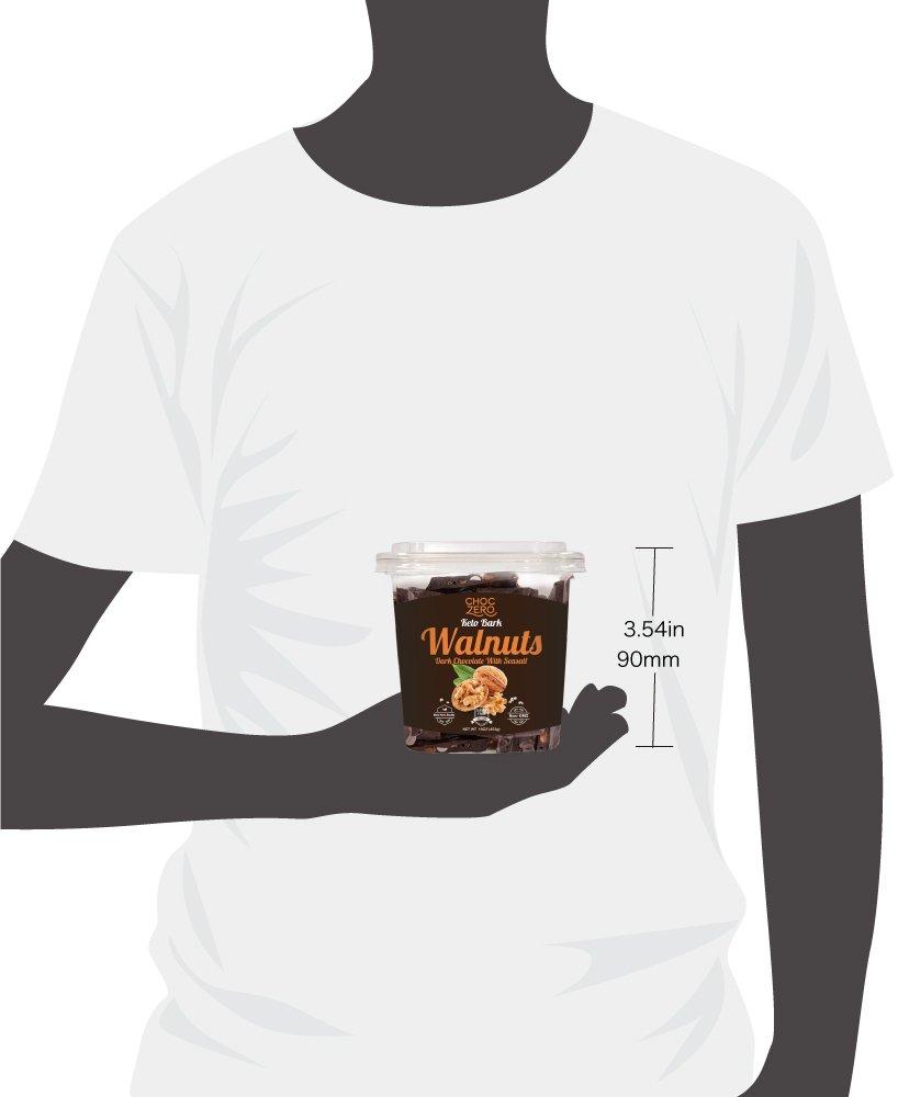 Amazon.com : ChocZero Keto Bark, Dark Chocolate Almonds with Sea ...